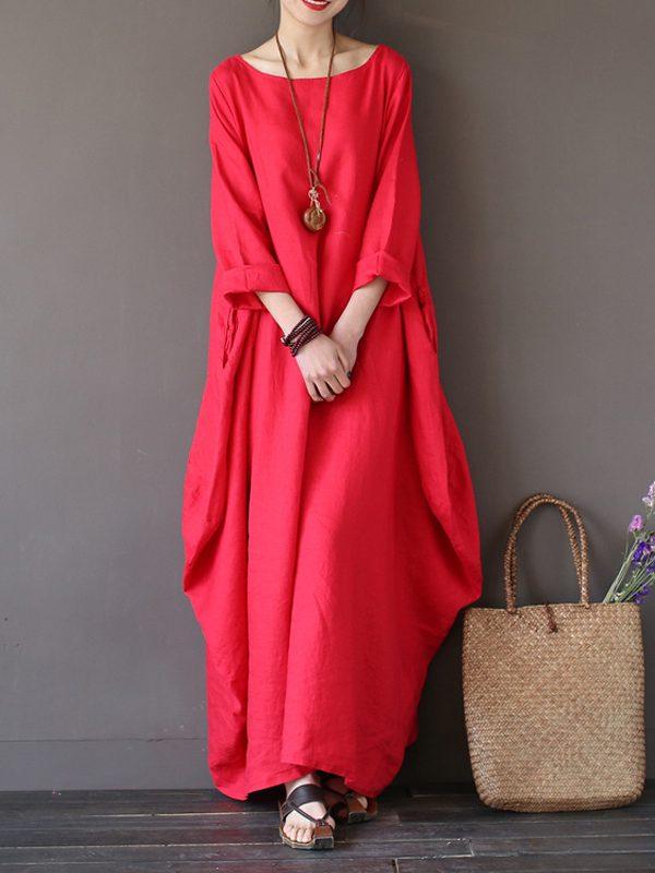 Винтажное платье в стиле бохо : 5 цветов