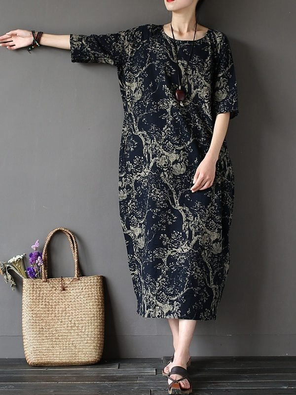 Платье с цветочным принтом : 3 цвета