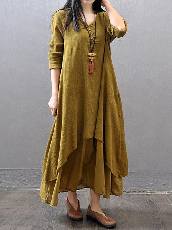 Винтажное свободное платье : 3 цвета