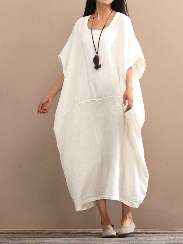 Легкое платье из хлопка и льна : 3 цвета