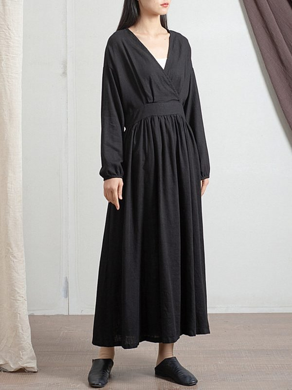 Нежное платье с поясом и карманами : 3 цвета