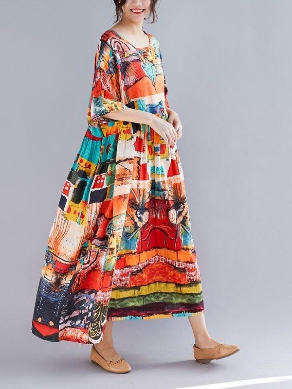 Оверсайз платье с высокой талией