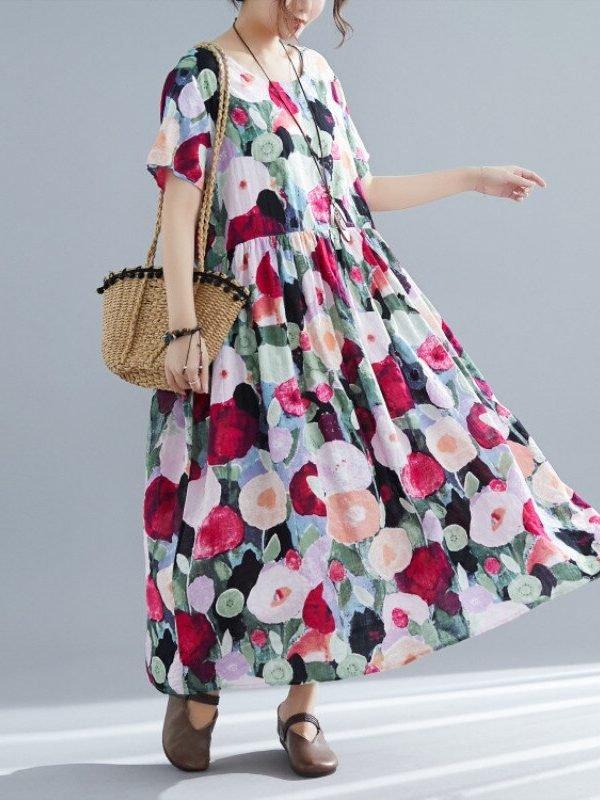 Легкое платье с цветами