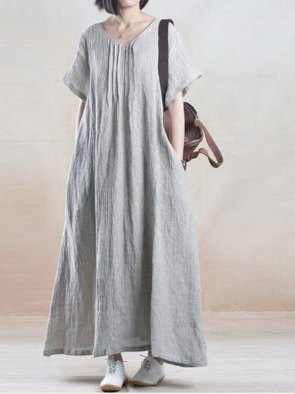 Льняное винтажное платье оверсайз : 2 цвета