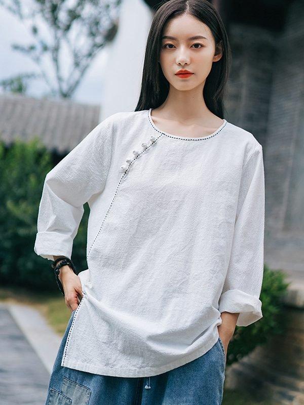 Блузка в азиатском стиле : 2 цвета