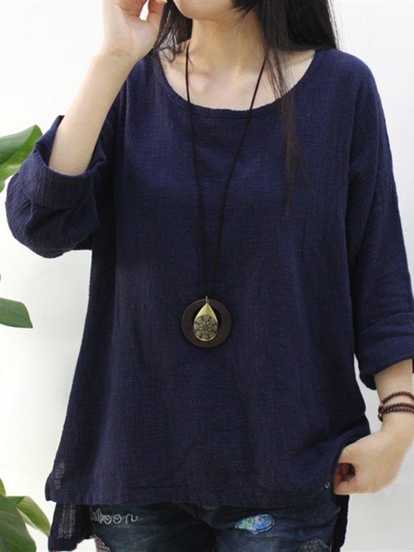 Простая и свободная блузка : 5 цветов