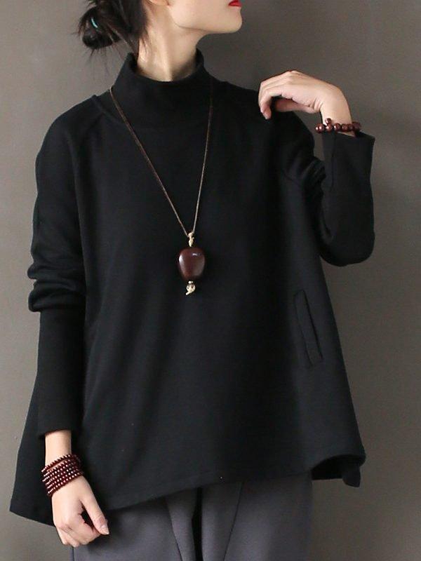 Свободная блузка-водолазка : 2 цвета