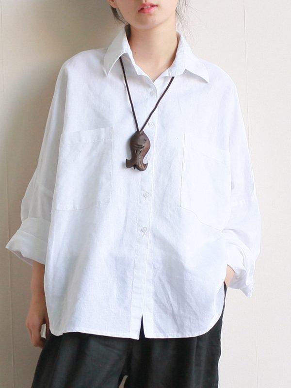 Свободная рубашка классического кроя : 2 цвета