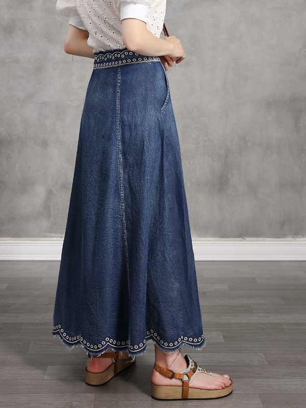 Длинная юбка с этническим узором