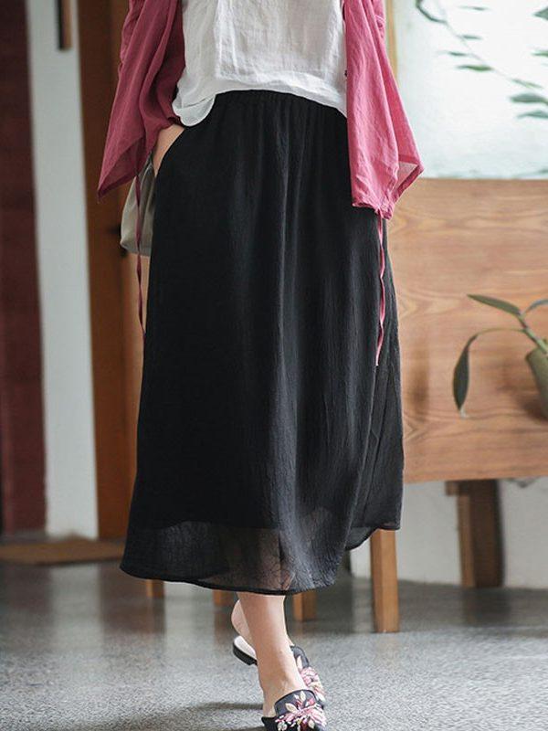 Легкая, летняя юбка с карманами : 3 цвета