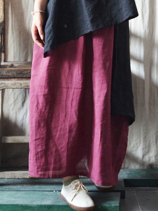 Легкая и свободная юбка с эластичной талией : 3 цвета