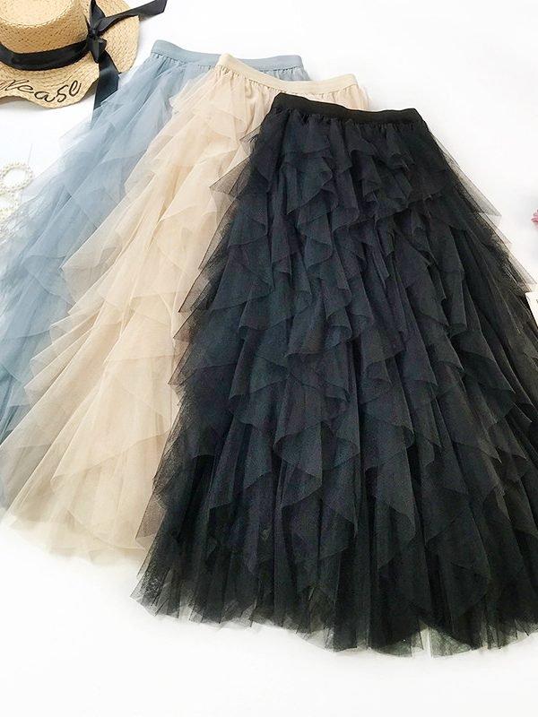 Легкая юбка в сеточку : 5 цветов