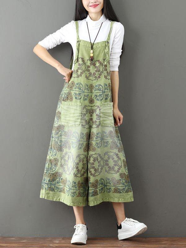 Комбинезон с абстрактным принтом и широкими штанинами : 2 цвета