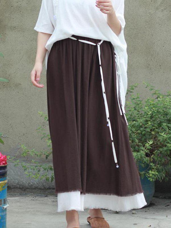 Винтажная юбка на шнуровке : 2 цвета