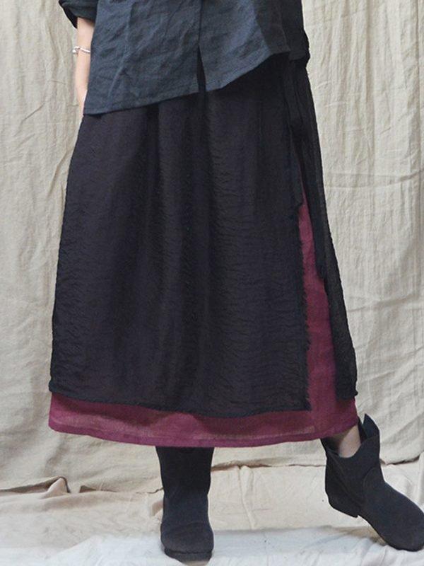 Свободная, двухслойная юбка: 2 цвета