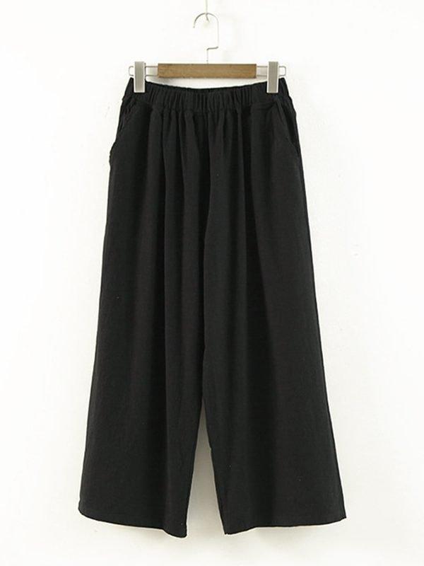 Короткие и свободные штаны c карманами : 3 цвета
