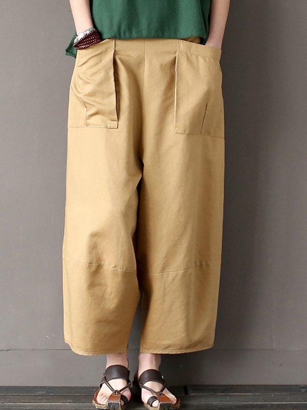 Широкие штаны выше щиколоток : 4 цвета