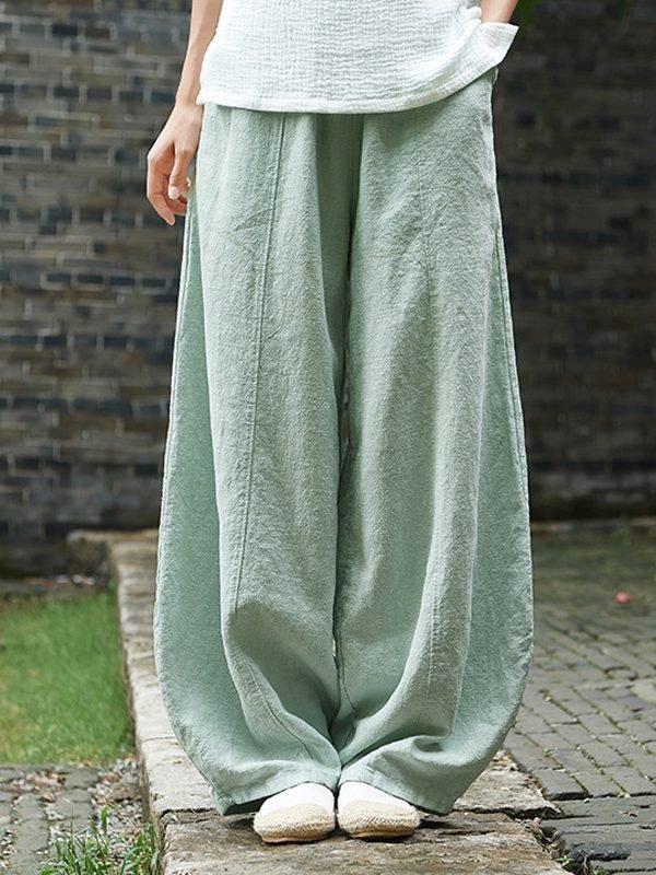 Свободные штаны с эластичной талией : 7 цветов