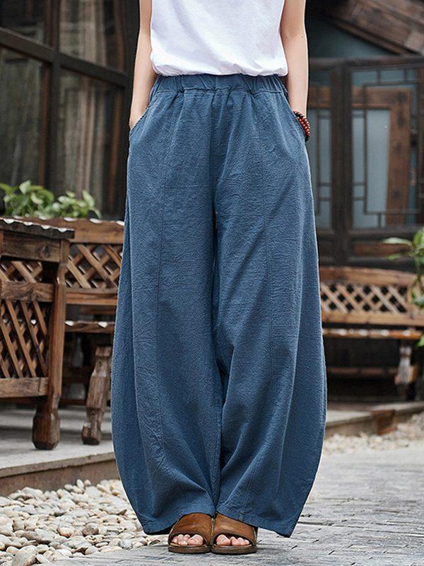 Свободные брюки до щиколоток, с карманами : 6 цветов