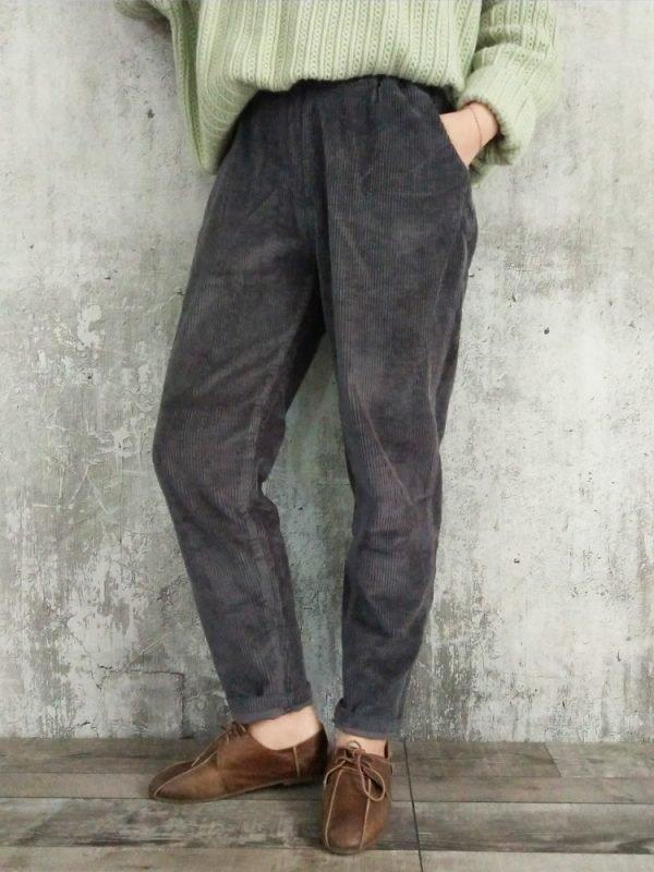 Вельветовые брюки с карманами : 4 цвета