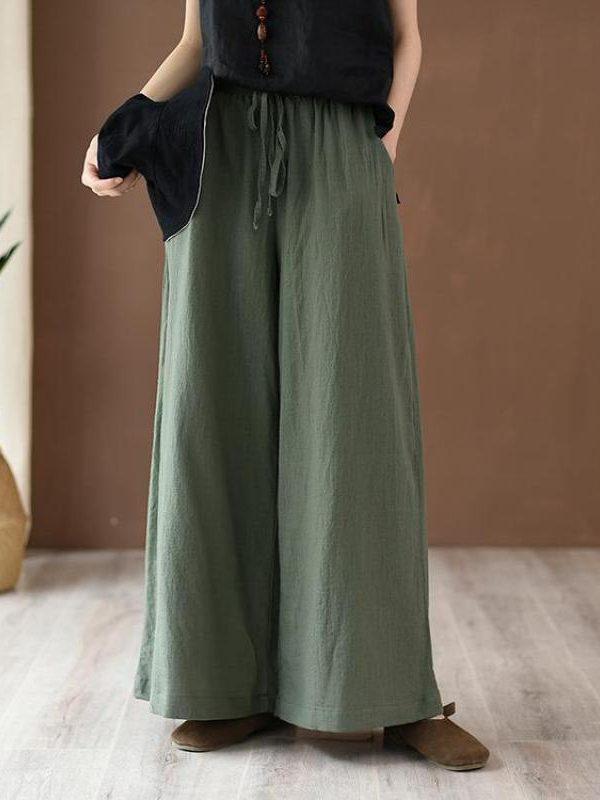 Свободные штаны на поясе : 5 цветов
