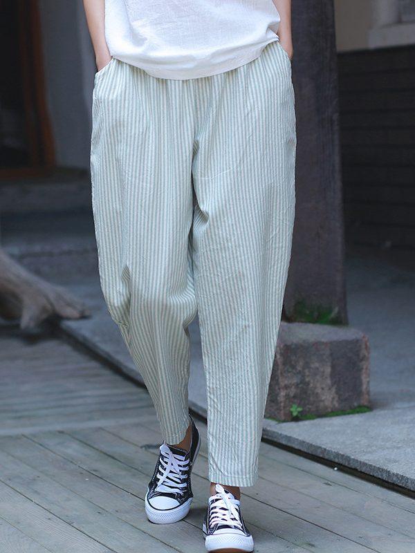 Стильные штаны в мелкую полоску : 3 цвета